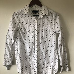 Classic Banana Republic Polka Dotted Button Up S